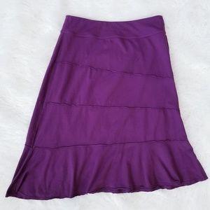 ATHLETA Crescendo Tiered Plum Purple Skirt